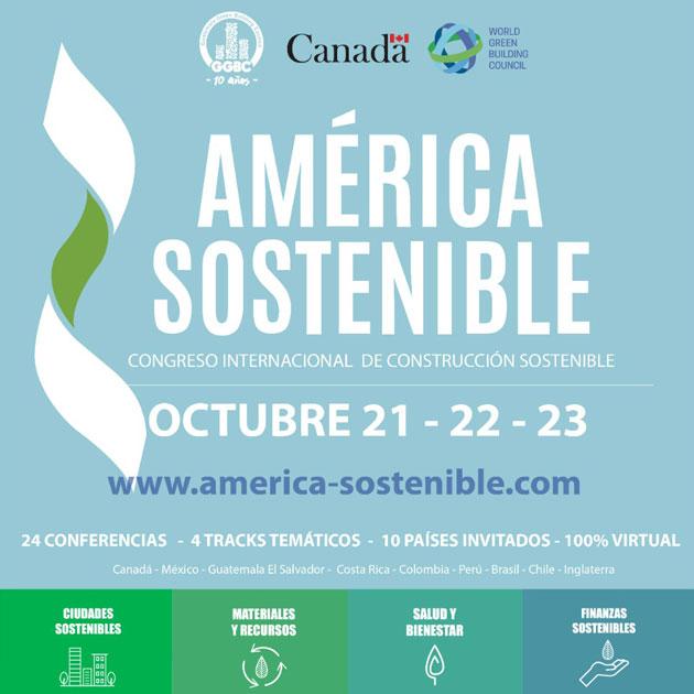 flyer del Congreso América Sostenible